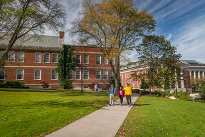 Photo of students walking on campus. Link to Gifts of Real Estate